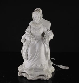 Minton bisque figure of Hannah More, by George Cocker, C. 1835 -0