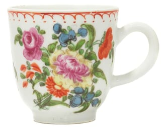 Bow coffee cup, flower painting, C. 1765 -0