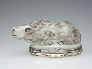 Saint Cloud snuffbox in the form of a water buffalo, c.1740 -0
