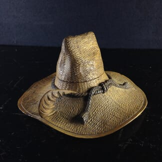 Swiss carved wooden 'Hat' Ink Well, c.1880.-0