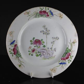 Bow plate with Oriental style aquatic plants, C. 1752-55 -0