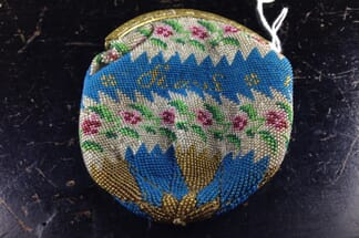French beadwork purse, dated 1834 -0