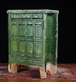 Chinese Ming Dynasty model cabinet, green glaze, 16th century AD -0