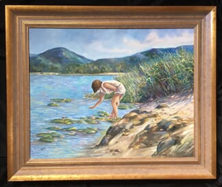 Lucette DaLozzo oil painting - 'a touch of morning', c.1975-0